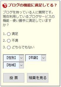 人気ブログランキング投票・アンケート